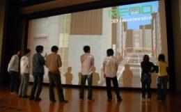 インタラクティブ高精細映像の表示システム